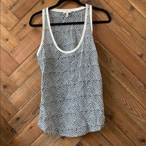 Joie Houndstooth Print Silk Tank  Size Small